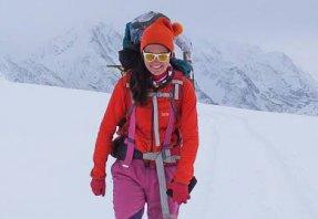 Fehér Anna Ditta a Himalájában